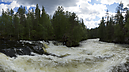 Myllykoski Rapids at Pieni Karhunkierros Trail, Национальный парк Оуланка, Kuusamo, Финляндия