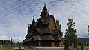From cemetery, Stave Church, Heddal, Norway