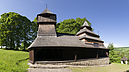 From South, Wooden Church of St. Cosmas and Damian, Lukov, Eslovaquia