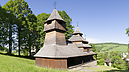 Nad kostolom, Wooden Church of St. Cosmas and Damian, Lukov, Slowakei