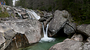 panorama Dlhý Waterfall II, Studený Creek Waterfalls