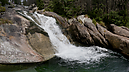 panorama Dlhý Waterfall III, Studený Creek Waterfalls