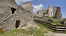 panorama Upper Court, Beckov Castle (after Reconstruction in 2012)