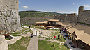 panorama Lower Courtyard, Beckov Castle (after Reconstruction in 2012)