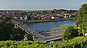 View of the City above Vytautas the Great Bridge, City of Kaunas, Kaunas