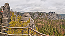 View to the Wehlgrund Valley, Bastei, Rathen, Germany