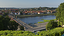 panorama View of the City above Vytautas the Great Bridge, City of Kaunas