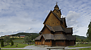 panorama Before the Church, Stave Church