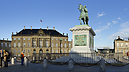 Statue of King Frederick V. in front of Amalienborg Palace, Indre By, Copenhague (København), Dinamarca