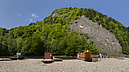 panorama Výstupná stanica - Lesnica, Wooden Rafts on the Dunajec River