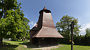 panorama Front view, Greek Catholic Wooden Church of St. Luke