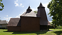 panorama View from Side, Greek Catholic Wooden Church of St. Luke