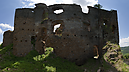 panorama Forecastle Courtyard, Zborov Castle