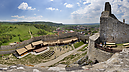 panorama Z východnej veže, Beckov Castle (after Reconstruction in 2012)