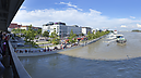 From the SNP Bridge, Flooded Danube River 2013, Pressburg (Bratislava), Slowakei