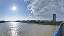 panorama From the Apollo Bridge in the Afternoon, Flooded Danube River 2013